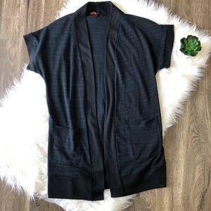 F21 Navy blue cardigan vest